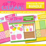 Lemonade Stand Clipart Plus Digital Papers BUNDLE