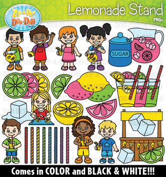 Lemonade Stand Clipart Set {Zip-A-Dee-Doo-Dah Designs}