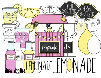 Lemonade Stand Color and Black Line COMBO