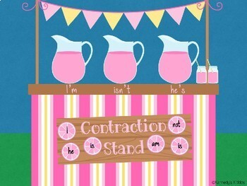 Lemonade Stand Contractions (Great for Google Classroom!)