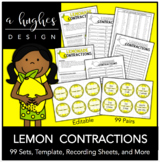 Lemonade Contractions: 99 Pairs {A Hughes Design}