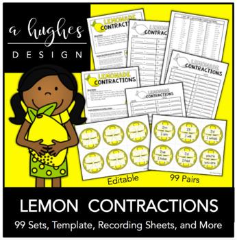 Lemonade Contractions {99 pairs}
