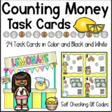 Money Math - Counting Coins Task Cards With QR Codes