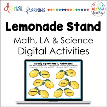 Lemonade Stand Digital Activities for Google Drive