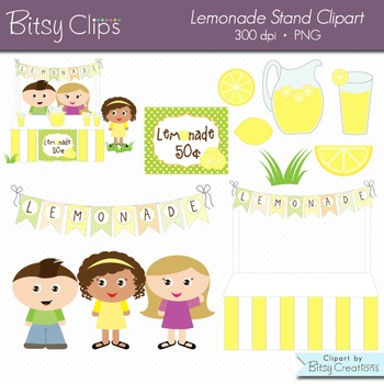 Lemonade Stand Digital Art Set Clipart Commercial Use Clip Art
