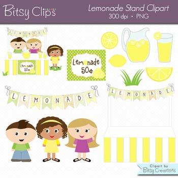 Lemonade Stand Digital Art Set Clipart Commercial Use Clip Art