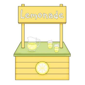 Lemonade Stand Digital Paper Backgrounds and Clip Art