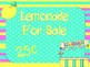 Lemonade Stand {Dramatic Play}