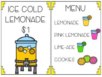 Lemonade Stand Dramatic Play