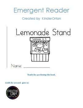 Lemonade Stand - Emergent Reader