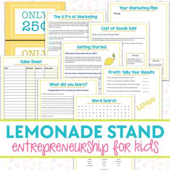 Lemonade Stand Entrepreneurship Packet