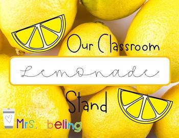 Lemonade Stand - Financial Literacy