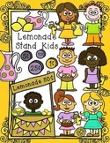 Lemonade Stand Kids -Spring & Summer Clip Art