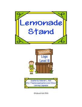 Lemonade Stand Logic Level 3