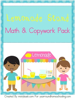 Lemonade Stand Math and Copywork Pack