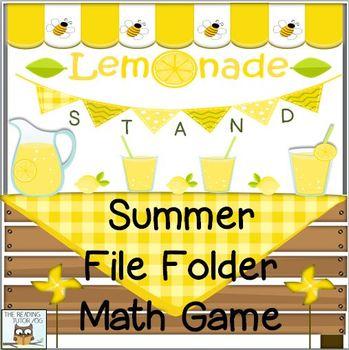Summer Math Game Lemonade Stand
