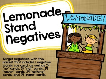 Lemonade Stand Negatives