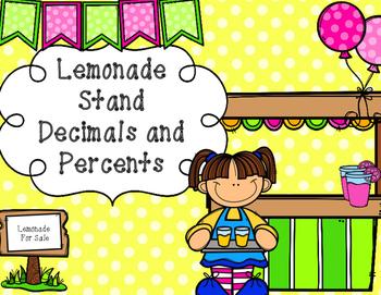 Lemonade Stand Decimals and Percents