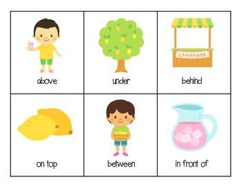 Lemonade Stand Prepositions