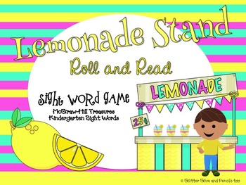 Lemonade Stand Roll and Read Sight Word Game: Treasures KindergartenWords
