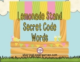 Lemonade Stand Secret Code Words {with QR Codes!}