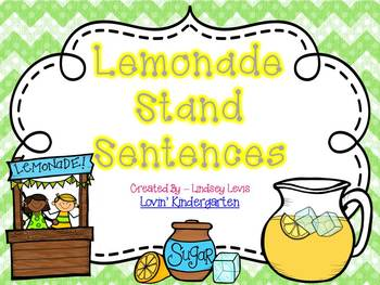Lemonade Stand Sentences  {Pocket Chart Stations}