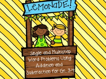 Lemonade Stand-Single and Multistep Word Problems