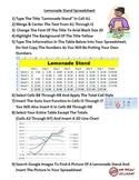 Lemonade Stand Spreadsheet