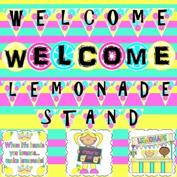 Welcome Banners and Posters (Lemonade Stand Theme)