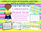 Lemonade Stand Unit - Reading, Writing, Financial Literacy, Producer & Consumer