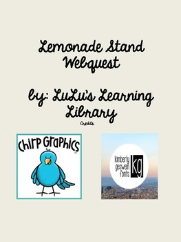 Lemonade Stand Webquest