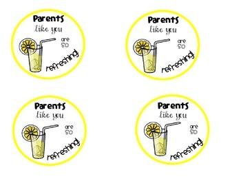 Lemonade Tags for Parents