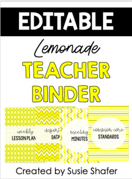 Lemonade Teacher Binder
