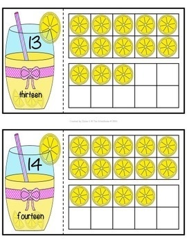 Ten Frame 2-Part Cards for 0-20