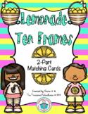 Ten Frame 2-Part Cards for 0-20 - Lemonade
