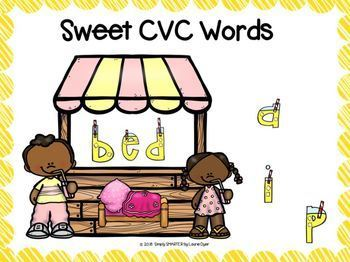 Lemonade Themed CVC Word Building Activities For GOOGLE CLASSROOM