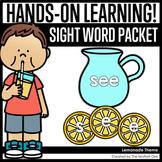 Lemonade Themed Sight Word Packet