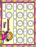 Lemonade Time Full Sheet Telling Time Blank Clocks Mat Dry Erase
