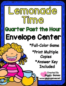 Lemonade Time Quarter Past the Hour Envelope Center