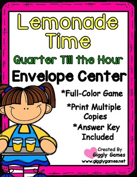Lemonade Time Quarter Till the Hour Envelope Center