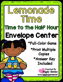Lemonade Time to the Half Hour Envelope Center