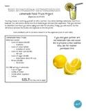 Lemonade Truck Project (Finance: Income, Expenses, & Profit)