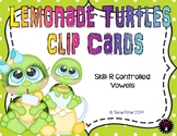 Lemonade Turtle R Controlled Vowel Clip Cards Teacher Appreciation Free