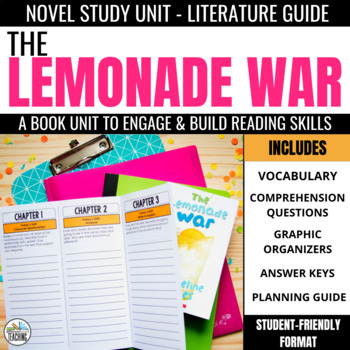 The Lemonade War Foldable Novel Study Unit
