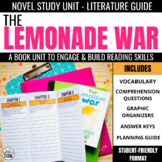 Lemonade War Foldable Novel Study Unit