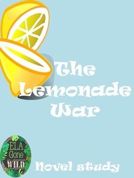 Lemonade War Novel Study Unit