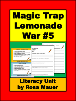 Lemonade War #5 The Magic Trap Book Unit