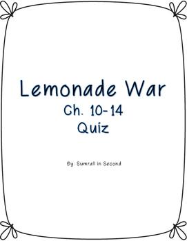 Lemonade War Ch. 10-14 Quiz