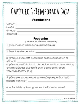 Lemonade War - Chapter 1 - Book Club - Spanish - Dual Language