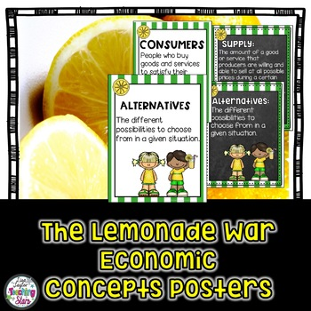 Lemonade War Economic Vocabulary Posters